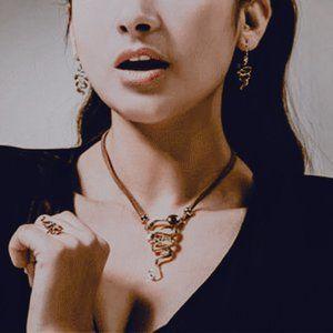 Snake Jewelry Set for Her Boho Jewellery Set